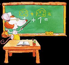 Miška učiteljica - ilustrator: Jure Kralj