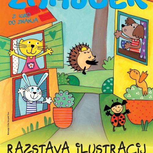 Zmajčkova razstava ilustracij v Knjižnici Domžale